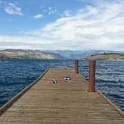 Chelan Prints - Where Did They Go Print by Leah  Welch
