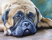 Mastiff Dog Paintings - Where Did They Go by Yvonne Gillengerten
