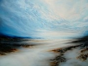 Abstracted Landscape Paintings - Where Dreams May Lie by Simon Kenny