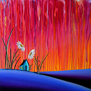 House Paintings - Where Flowers Bloom by Cindy Thornton