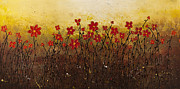 Sunrise Paintings - Where Happiness Grows by Carmen Guedez