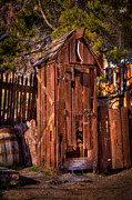 Outhouses Metal Prints - Where is the Closest Bathroom? Metal Print by David Patterson