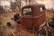 Abandoned Digital Art - Where Old Trucks Go To Die by Betty LaRue