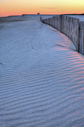 Sand Fences Acrylic Prints - Where the Boardwalk Ends Acrylic Print by JC Findley