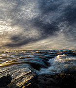 Solitude Photo Prints - Where The River Kisses The Sea Print by Bob Orsillo