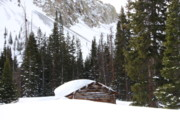 Log Cabins Photo Originals - Where the Winters are Hard by Cynthia  Cox Cottam