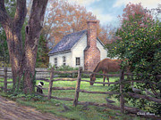 Country Cottage Prints - Where Time Moves Slower Print by Chuck Pinson