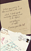 Love Letter Prints - Where You Used To Be Print by Raina McBride