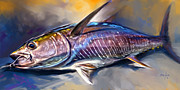 Yellowfin Painting Framed Prints - Wheres my Wasabi Framed Print by Mike Savlen