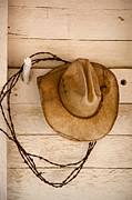 Cowboy Hat Prints - Wherever I Lay My Hat Print by Peter Tellone