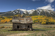 Crested Butte Prints - Whetsone Mountain Cabin Print by Dusty Demerson