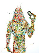 Phone Paintings - While My Smartphone Gently Weeps by Fabrizio Cassetta