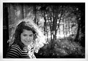 Young Girl Photo Posters - While Walking Along A Path Poster by Theresa Tahara