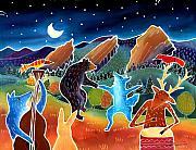 Coyote Art Paintings - While We Were Sleeping by Harriet Peck Taylor