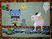 One Of A Kind Tapestries - Textiles Posters - Whimsey Poster by Linda Egland