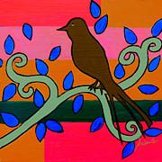 PRISTINE CARTERA TURKUS - WHIMSICAL BROWN BIRD