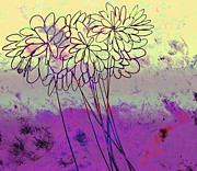 Whimsical Flower Bouquet Print by Ann Powell