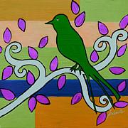 PRISTINE CARTERA TURKUS - WHIMSICAL GREEN BIRD