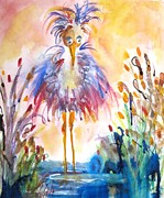 Delilah  Smith - Whimsical Heron No. 2
