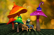 Liam Liberty - Whimsical Mushrooms and Ribbits The Frog