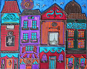 Silver Turquoise Digital Art - Whimsical Street in Paris 3 by Cynthia Snyder
