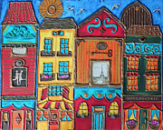Cynthia Snyder Art - Whimsical Street in Paris by Cynthia Snyder