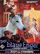 Whippet Painting Prints - Whippet Art - Der Blaue Engel Movie Poster Print by Sandra Sij