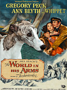 Whippet Painting Prints - Whippet Art - The World in his Arms Movie Poster Print by Sandra Sij