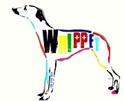 Whippet Mixed Media Posters - Whippet Poster by Brian Buckley