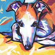 Whippet Painting Prints - Whippet Love Print by Lea