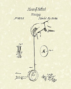 Toy Drawings Prints - Whirligig 1867 Patent Art Print by Prior Art Design