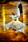 Holy Art Framed Prints - Whirling Dervish - 6 Framed Print by Okan YILMAZ