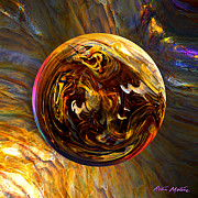 Spheres Digital Art - Whirling Wood  by Robin Moline