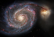 Heavens Prints - Whirlpool Galaxy 2 Print by The  Vault - Jennifer Rondinelli Reilly