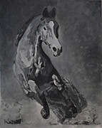 Grisaille Paintings - Whirlwind by Denise Boineau