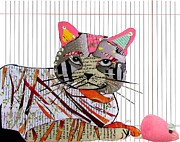 Kittens Mixed Media - Whiskers 2 by Brian Buckley