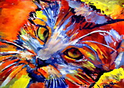 Faces Paintings - Whiskers by Helena Wierzbicki