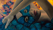 Romance Painting Originals - Whisper of Papillon by Dorina  Costras
