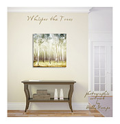 Holly Kempe Metal Prints - Whisper the Trees Wall Art Metal Print by Holly Kempe