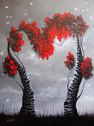 Red Heart Paintings - Whisper To Me Softly by Shawna Erback by Shawna Erback
