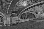 Railroad Depot Framed Prints - Whispering Gallery BW Framed Print by Susan Candelario