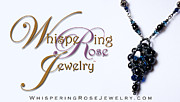 Floral Jewelry Metal Prints - Whispering Rose Jewelry Logo Metal Print by WDM Gallery