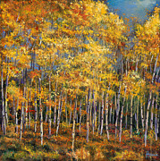 Aspen Trees Paintings - Whispers and Secrets by Johnathan Harris