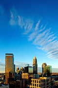 Charlotte Prints - Whispy clouds in Charlotte NC sky Print by Patrick Schneider