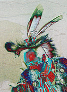 Pow Wow Metal Prints - Whistle Blower Metal Print by Kae Cheatham