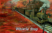 Mark Moore Framed Prints - Whistle Stop Named Framed Print by Mark Moore