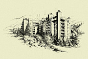 Hotel Art Framed Prints - Whistler Art 007 Framed Print by Catf