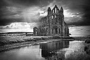 Whitby Posters - Whitby Abbey Poster by Ian Barber
