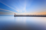 Whitby Framed Prints - Whitby East Pier long exposure Framed Print by Richard Thomas