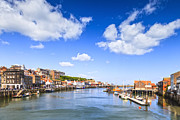 Yorkshire Framed Prints - Whitby Harbour and River Esk North Yorkshire England Framed Print by Colin and Linda McKie